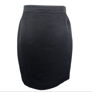 Escada ribbed wool and silk pencil skirt size 38